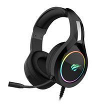 Headset Gamer Havit H2232D com Microfone Preto com Iluminação RGB USB e P2 - HV-H2232D -