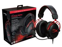 Headset Gamer HYPERX Cloud ALPHA Preto com Vermelho HX-HSCA-RD/AM