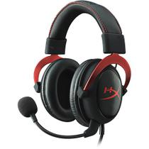 Headset gamer kingston hyper x cloud ii - preto / vermelho - khx-hscp-rd - Hyperx