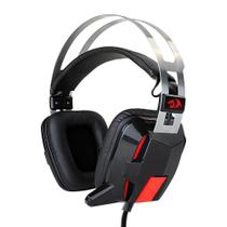 Headset Gamer Lagopasmutus 2 H201-1 com Fio - Redragon com microfone Preto e Vermelho -