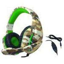 Headset Gamer Led P3 Usb Px-6 Tecdrive Naval Camuflado Verde - Tec Drive -