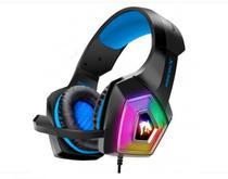 Headset Gamer Led Rgb Com Fio E Microfone Articulado Azul - Gh-X2000 - Exbom
