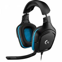 Headset Gamer Logitech G432 7.1 Dolby Surround para PC, PlayStation, Xbox e Nintendo Switch - Preto/Azul -