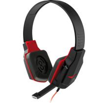 Headset Gamer Multilaser C/Microfone Preto/Vermelho PH073 -