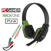 Headset Gamer Multilaser PH146 + Adptador P/ Xbox One Ps4 PC Smartphone Som Do Jogo E Chat -