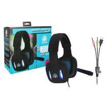 Headset Gamer Nemesis Preto Com Luz De Led Azul Nm-2190 - Chip sce