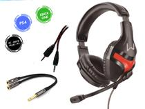 Headset Gamer P/ Ps4 Xbox One PC Notebook - Multilaser PH101 Fone com Microfone + Adaptador P3 3.5mm