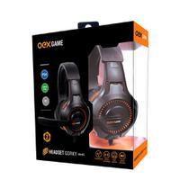 Headset Gamer P3 OEX Gorky HS413 Multiplataforma com Microfone Preto e Laranja -