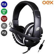 Headset Gamer P3 para PC PS4 PS5 Xbox One  Switch Ajustável com Microfone Action-X HS211 - Preto - Oex