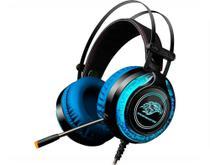 Headset Gamer Rbg Ars9 K-mex - Microfone Com Efeito Led Acolchoados Azul - Kmex