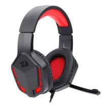 Headset Gamer Redragon Themis 2 Preto e Vermelho P2 Com Microfone Sem LED - H220N -