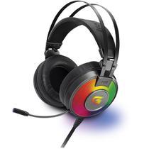 Headset Gamer RGB G PRO H3+ 7.1 Cinza Fortrek -