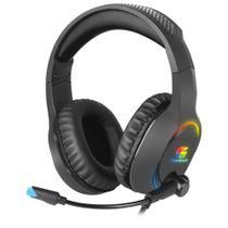 Headset Gamer RGB Holt Preto FORTREK -