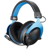 Headset Gamer Sades MPower SA-723 PS4 VR PC Nintendo Preto E Azul