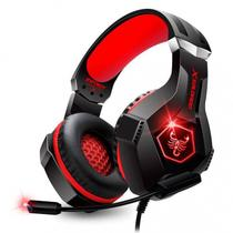 Headset Gamer Scorpion Com Fio Microfone Articulado e Led Rgb Vermelho Infokit - Gh-x1000 -