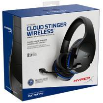 Headset Gamer Sem Fio HyperX Cloud Stinger Wireless, Drivers 50mm, Preto e Azul - HX-HSCSW-BK -