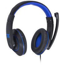 Headset gamer stereo c/microfone preto/ azul vinik -