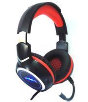 Headset Gamer Stereo Pc Fone Microfone Led Rgb P2 Usb Boas O-Max Bass Bq9900 -
