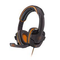 Headset Gamer Target USB Preto c/ Laranja HS203 Oex Game -