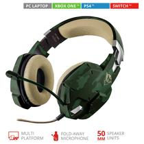 Headset Gamer - Trust Gxt 322c - Jungle Camo - Ps4 / Xbox One / Pc