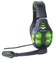 Headset Gamer USB 5.1 Mymax Led Verde Fone e Microfone PC