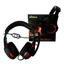 Headset Gamer Usb Pc Microfone Fone Ouvido Fio Surround 7.1 - Xtrad -