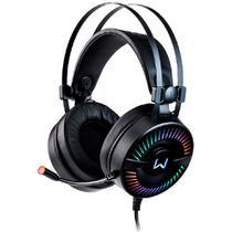 Headset Gamer Warrior Flamma com Fio USB LED RGB Microfone -