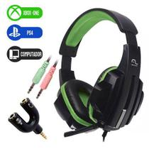 Headset Gamer Xbox One PS4 PC Som Do Jogo E Chat Plug P2/P3 3.5mm Cabo Nylon VD - Multilaser