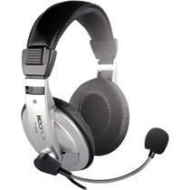 Headset Hoopson Profissional F-014 com Microfone Prata -