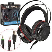 Headset KP-417 Gamer 7.1 USB P2 PC e Gamers Bass Vibration Com Fio - Knup