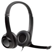 Headset Logitech H390 - Microfone giratório - USB - Cabo 2.3m - 981-000014 -
