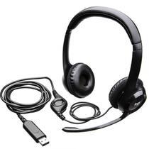 Headset logitech s h390 usb - preto 981-000014 -