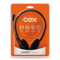 Headset OEX com Microfone HS100 Preto -