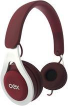 Headset oex hs210 drop com fio vinho -