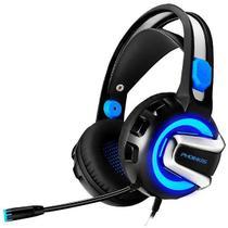 Headset PHOINIKAS H-4 com Microfone Dobrável - Preto/Azul -
