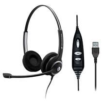 Headset profissional com 2 conchas, controle e conexão USB - Sennheiser