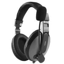 Headset Targa PH350 com Microfone e Saídas P2 - Perto e Cinza -