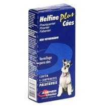 HELFINE PLUS - caixa com 4 compr. - Virbac -