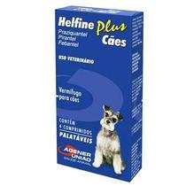 Helfine Plus Vermífugo para cães Agener 4 comprimidos - Agener União