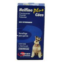 Helfine Plus Vermífugo para Cães com 4 Comprimidos Palatáveis -