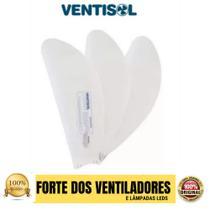 Hélice De Teto Ventisol Fênix Ou Sunny Branca C/3 Pás -