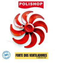 Hélice Do Ventilador Polishop 40cm 8 Pás Red Line Original -