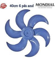 Hélice Mondial 40cm 6 pás Azul -