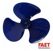 Helice P/ Ventilador Faet 30cm Azul Original Furo Meia Lua -