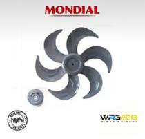 Hélice + Trava Ventilador Mondial Cinza 40cm 6 Pás Original - Hélice + Trava  Mondial
