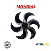 Hélice + Trava Ventilador Mondial Preta 40cm 6 Pás Original - Hélice + Trava Mondial Preta