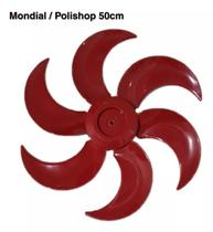 Helice Ventilador Mondial Polishop Bravio 6 Pas 50cm Vermelha -