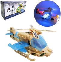 Helicoptero Bate E Volta Falcon Super Power Com Som E Luz A Pilha Na Caixa - 20 Comercial