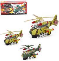 Helicoptero bate e volta missao resgate colors com som e luz a pilha na caixa wellkids - Wellmix