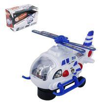 Helicoptero bate e volta policia cops possantes com som e luz a pilha na caixa wellkids - Wellmix